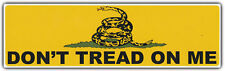 Bumper Sticker: DON'T TREAD ON ME Gadsden Flag Freedom Military Coiled Snake