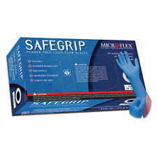 Microflex SG-375M SafeGrip Powder Free Latex Gloves - Medium, 10 Boxes