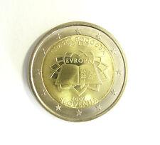 manueduc   ESLOVENIA  2007  2 EUROS TRATADO DE ROMA NUEVA  MUY RARA