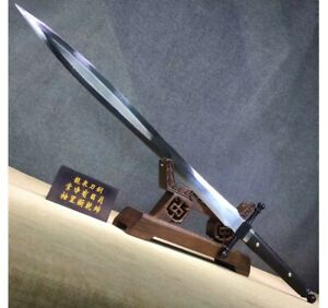Two Handed Double Edged High Carbon Steel Longsword Battle Ready Long Sword Tang