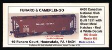 Funaro F&C 6450  CANADIAN NATIONAL CN Slab Side Covered Hopper Sheet Metal Hatch