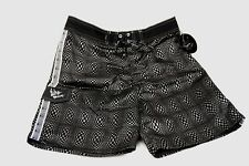 QUIKSILVER  NWT Mens 34 Board Swim Shorts  Black Velvet and Silver Echo Beach