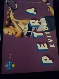 WTA WESTERN & SOUTHERN 5x7 PETRA KVITOVA TENNIS CARD 2019 EDITION GIVEAWAY