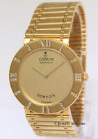 Corum Romvlvs 18k Yellow Gold Diamond Ladies 30mm Quartz Watch Romulus