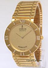 Corum Romvlvs 18k Yellow Gold Diamond Ladies 30mm Quartz Watch Romulus