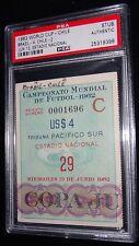 1962 WORLD CUP CHILE VS BRAZIL CHAMPIONS CHAMPS MATCH 29 TICKET PSA RARE
