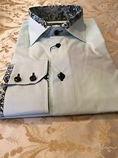 New Mens Brio MINT GREEN WITH DESIGN On Collar, Size LARGE