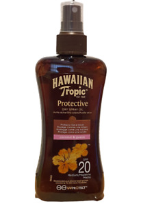 HAWAIIAN TROPIC PROTECTIVE DRY SPRAY OIL COCONUT & GUAVA SPF20 200ML