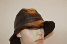 Marzi Leather Hat Hand Made From Italy NWOT Stunning