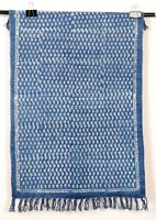 Small Area Rug Indigo Handmade Floor Carpet Bohemian Dari 2x3 Ft Runner Blue Mat