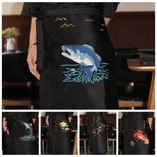 Japanese Restaurant Sushi Chef Apron Bar Work Uniform Waist Embroidery Unisex
