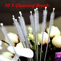 10pcs Nylon Straw Cleaners Cleaning Brush Drinking Pipe Cleaners Stainless Steel