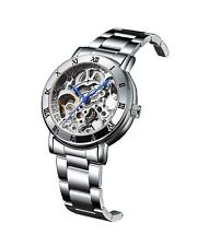 IK Women's Automatic Watch, Steampunk Self Winding Mechanical Silver Bracelet...