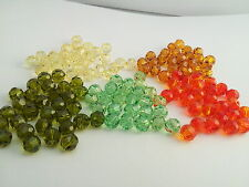 Swarovski 5000 al por mayor warm/green/topaz Mix 6mm rondas Lote 132 Perlas (barg63)