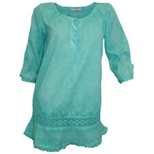 Tunika Longbluse in mintgrün von Cheer - in washed Optik *** Neu ***