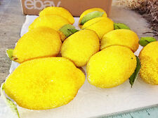 Vintage Sugar Beaded Lemons LOT of 10 With Leaves See all Photos