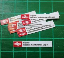 N gauge  BR Depot signd x10 TMD signs, Customised with your traction depot name