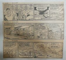 """(305) """"Li'l Abner"""" Dailies by Al Capp from 1942  Size: 3 x 10 & 3 x 8 inches"""