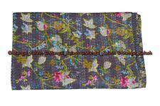 Indien cotton paradise kantha quilt handmade bedding bedspread blanket king size