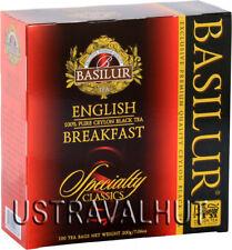 English Breakfast Ceylon Tea  Loose 100 Tea Bags Basilur