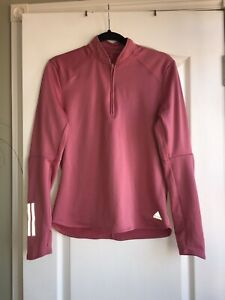 Adidas Zip Jacket Gym Yoga Running Muscle Small Climawarm Energy 8 10 Rose  Top