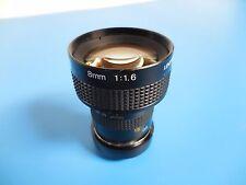 TV Lens 8mm 1:1.6