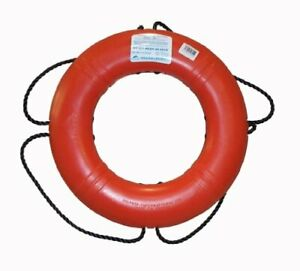 "Dock Edge Closed Cell Foam U.S.C.G. Approved Life Ring Webbing Straps 20"" Orange"