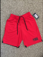 NWT NBA MEN'S RED BASKETBALL WORKOUT SHORTS SIZE SMALL