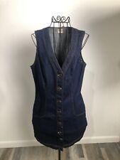 blue jean jumper dress Nwt Handmade By Relove