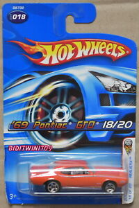 HOT WHEELS 2005 FIRST EDITIONS REALISTIX '69 PONTIAC GTO #018 ORANGE