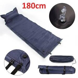 Inflatable Camping Sleeping Mat Ultralight  Air Pad Roll Bed Mattress WithPillow