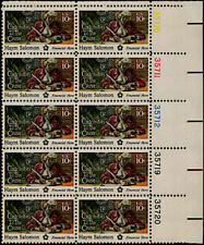 1975 HAYM SALOMON MNH Block 10 x 10¢ STAMPS Contributors to the Cause #1561 Hero
