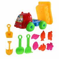 11Pcs/set Unique Children Kids Beach Playing Truck Sand Dredging Toy Set KD