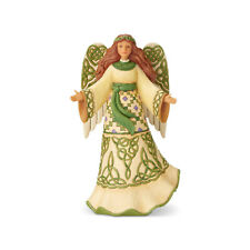 Jim Shore Irish Angel w/Celtic Dress Figurine ~ Miracles From Moors to Mountains