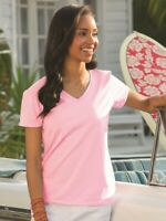 Fruit of the Loom - HD Cotton Women's V-Neck T-Shirt - L39VR