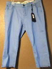 Beverly Hills Polo Club Womens Capri blue striped pants size 14 NEW