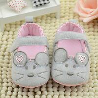 Infant Baby Boys Girls Mouse Crib Shoes Soft Sole Prewalker Anti-Slip Newborn
