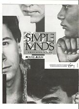 SIMPLE MINDS Once Upon A Time French  magazine ADVERT / Poster 10x8 inches