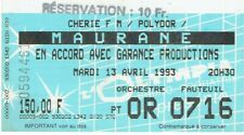 Maurane ticket concert used 1993. L'Olympia Paris N° 0594461