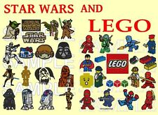 2 IN 1, STAR WARS AND LEGO, PES EMBROIDERY MACHINE CD.