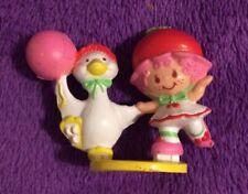 Strawberry Shortcake Cherry Cuddler With Gooseberry Skating Miniature PVC 1984