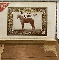 Vintage~ Peter Chimes ~ Wooden Cigar Box ~ F. M. Howell Company.