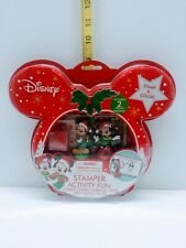 Disney 2017 Mickey & Minnie Mouse Christmas Stamper Activity Fun Set New