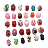 30 Stück Bunte Glasperlen Bunte Perlen Rund Perlen Dekoperlen für