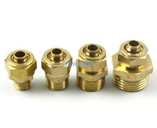 """10 Pieces 10mm-1/4"""" BSP Male Brass Pneumatic Pipe Hose Coupler Connector Fitting"""