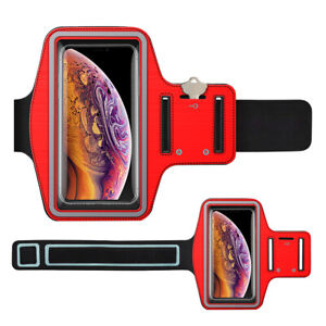 2 Pack Cell Phone Armband Sport Running Exercise Gym Phone Holder Card Slot Case
