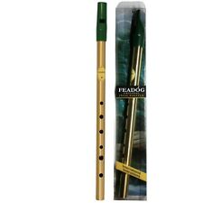 Irish Tin Whistle - Feadog Brass Whistle in D