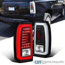 For GMC 15-18 Yukon SUV Black LED Parking Rear Tail Lights Left+Right Brake Lamp
