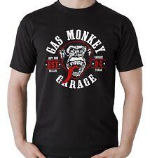 Camiseta motera manga corta Gas Monkey Mono Hombre Garage Dallas Texas Moteros