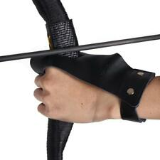 Archery Protector Leather 2 Finger Gloves Hunting Guard Protector Left Hand Bow